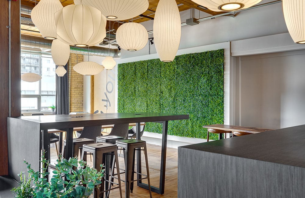 Workhaus 215 Spadina Avenue - Lounge Green Wall